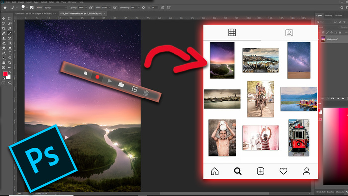Quickly Create Your Unique Instagram Gallery by Using Actions in Photoshop