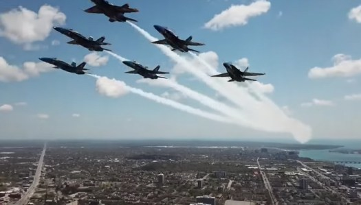 Video Shows Drone Flying Illegally and Dangerously Close to Blue Angels Military Jets