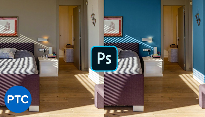 Two Ways to Change the Color of a Wall in Photoshop