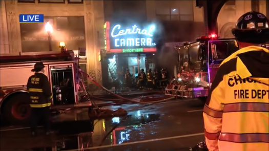 Chicago's Central Camera Burns After a Night of Intense Civil Unrest