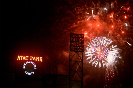 Free SF Giants Post Game Fireworks Show Oracle Park