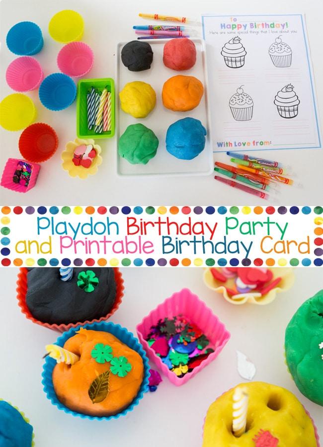 Play Dough Birthday Party Craft Activity
