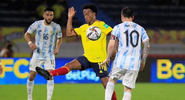 Colombia rescató empate en casa ante Argentina. Foto: EFE