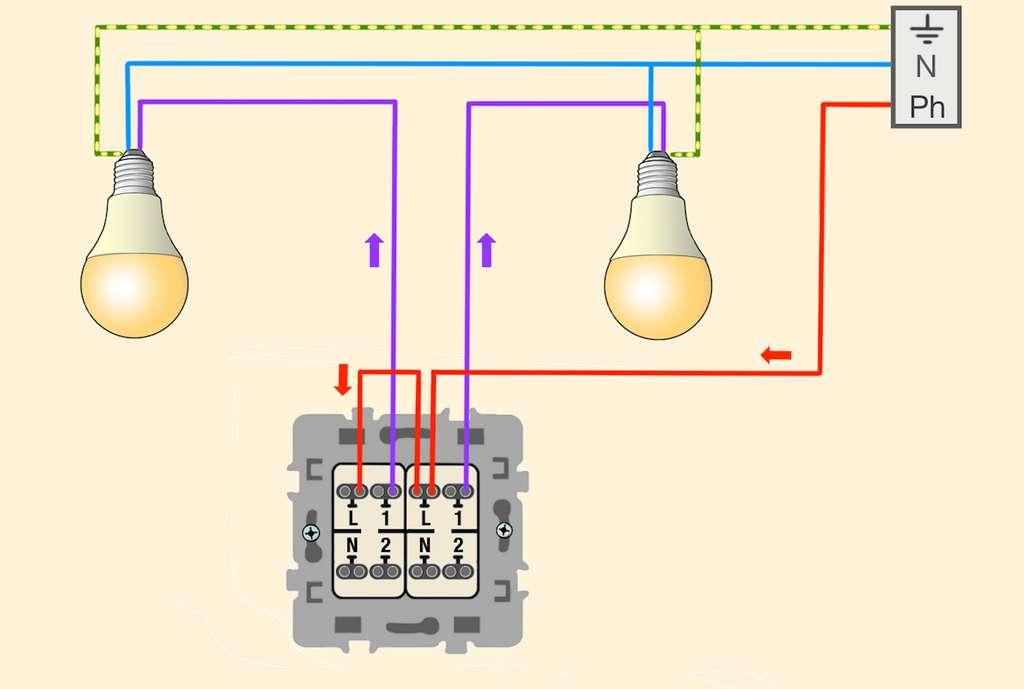 Comment Installer Et Raccorder Un Interrupteur Double Allumage