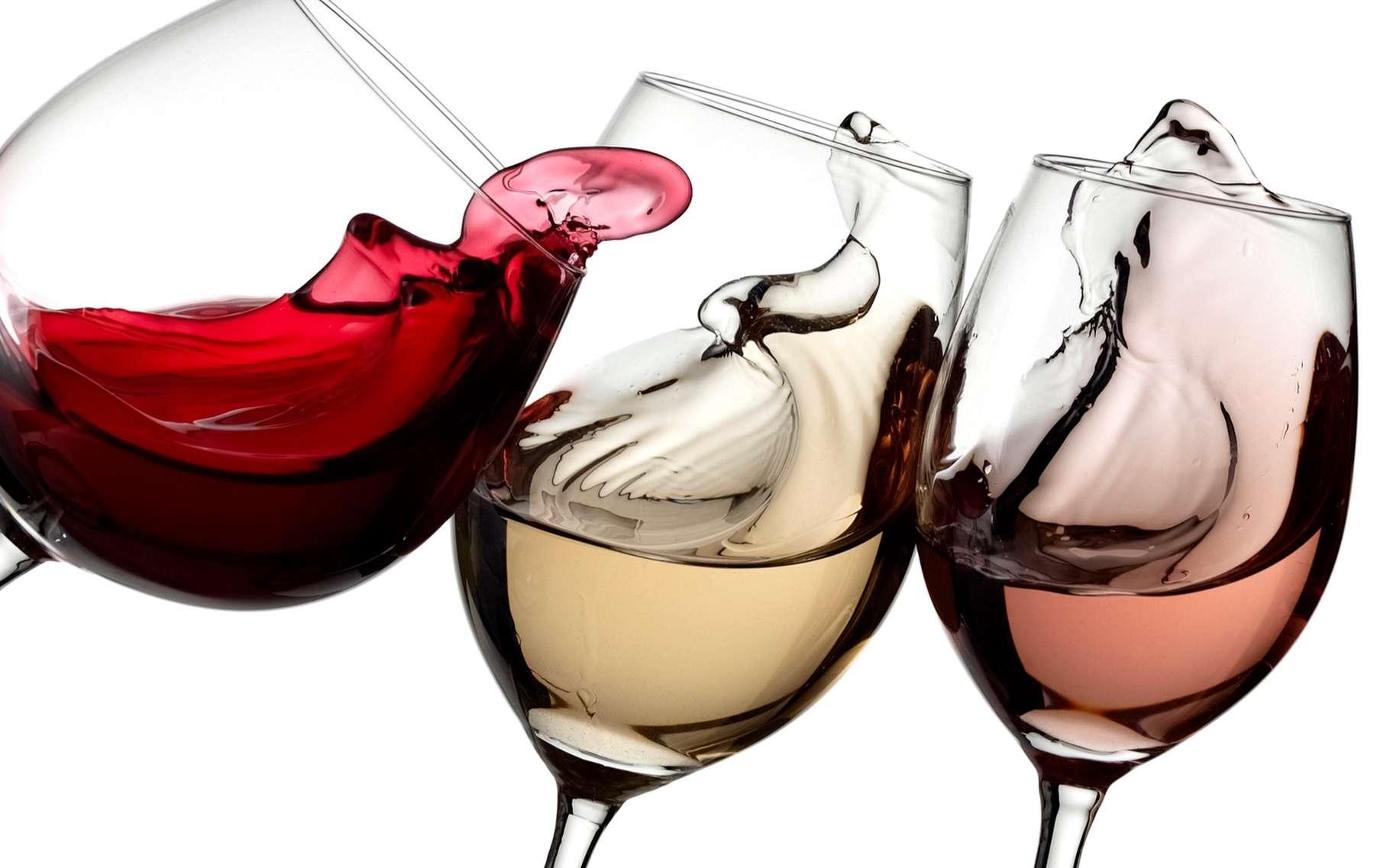 entre vin blanc vin rose et vin rouge