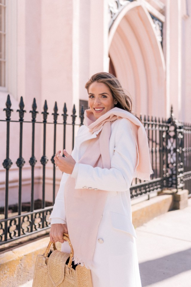 Fresh Sophisticated White and Pink Outfit