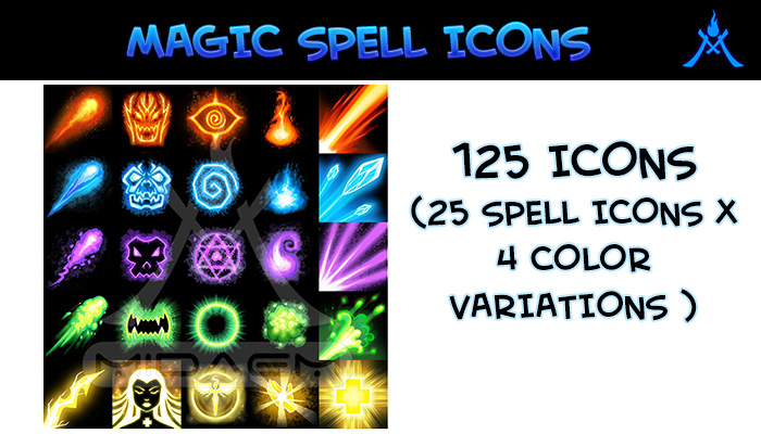 Download Magic Spell Icons | GameDev Market