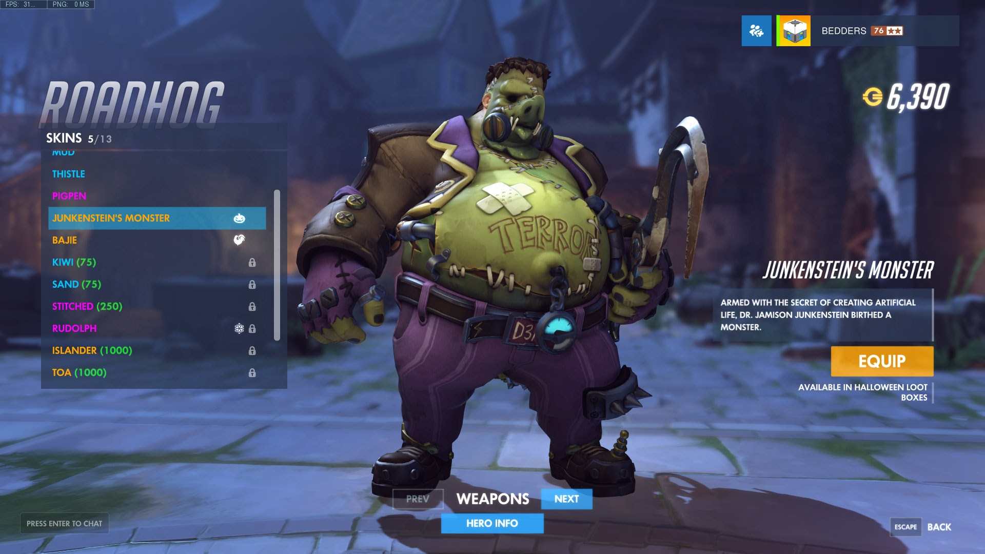 Halloween Terror 2017 Skins All The Legendary Skins In One Place Overwatch Metabomb