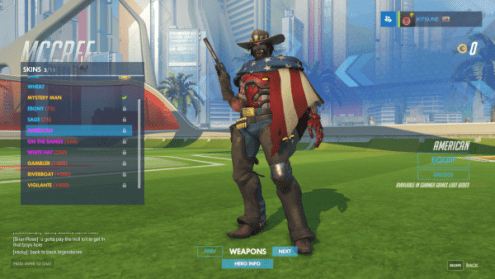 Overwatch Summer Games 2018    Update  Event has Ended  All Summer     McCree s Overwatch Summer Games 2016 skin