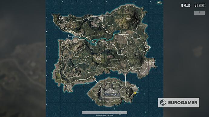 PUBG Erangel map explained   size  best start locations and Erangel     PUBG Map key things to know