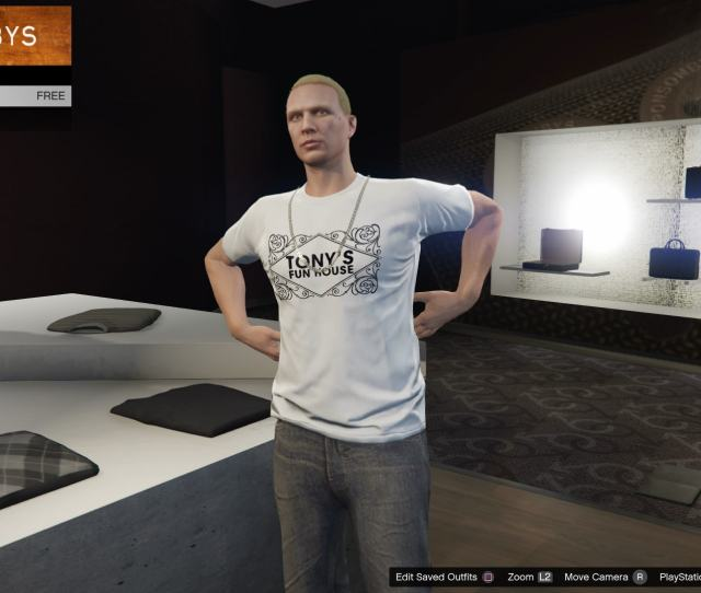 As Part Of The New Update Theres A Free T Shirt That All Players Can Pick Up Its A Tonys Funhouse Tee And Can Be Received By Heading Into A Ponsonbys