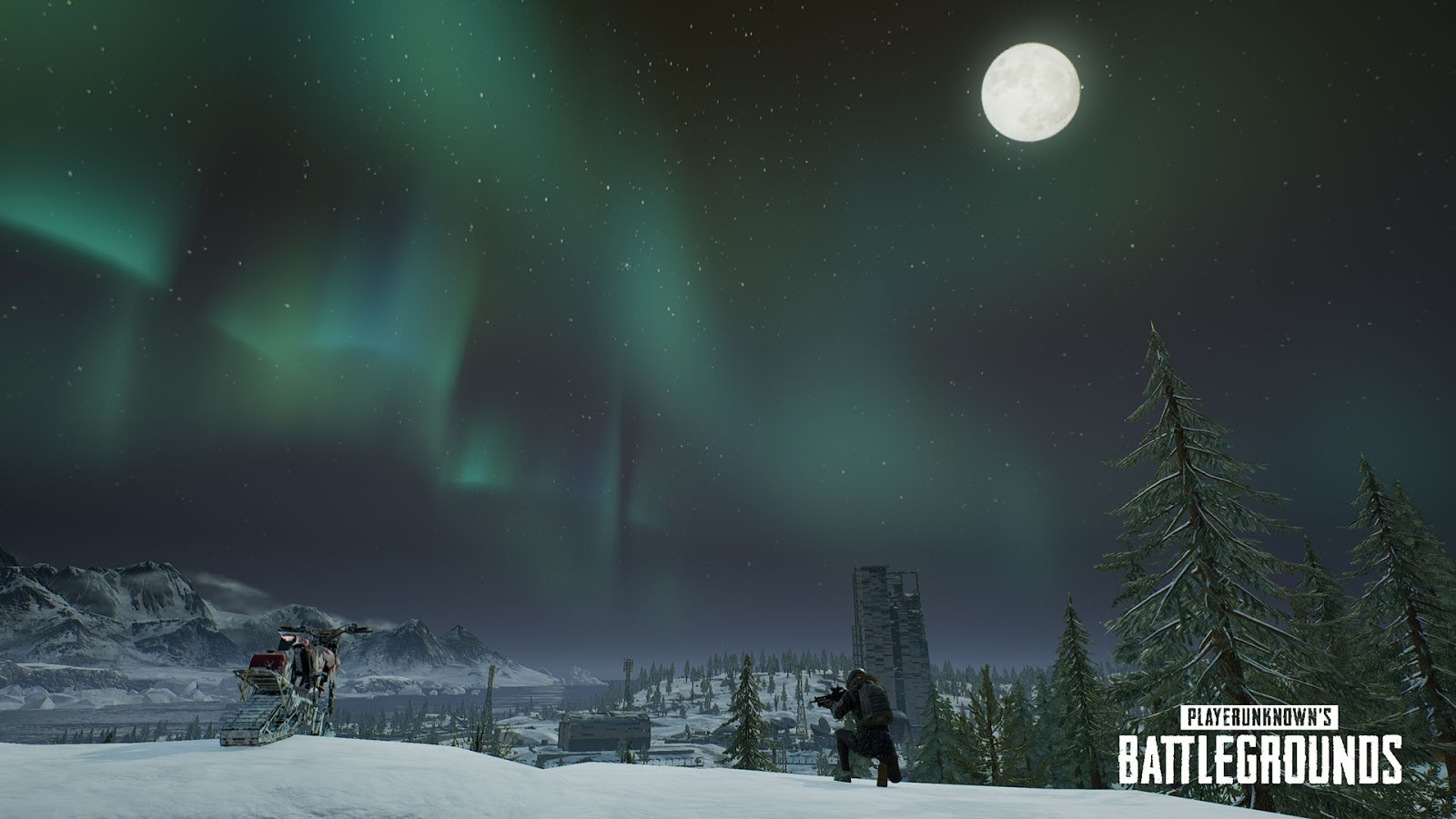 PUBG Adds Snowbikes Canted Sights And Northern Lights On PC