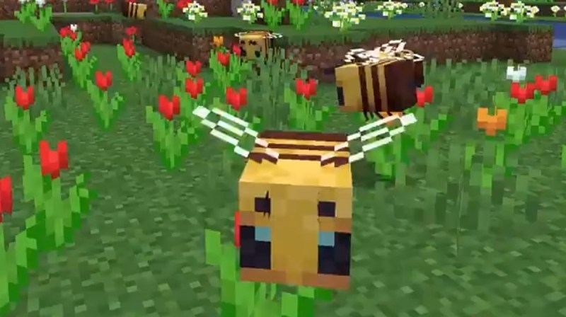 Minecraft's latest Java update adds bees, hives and honey
