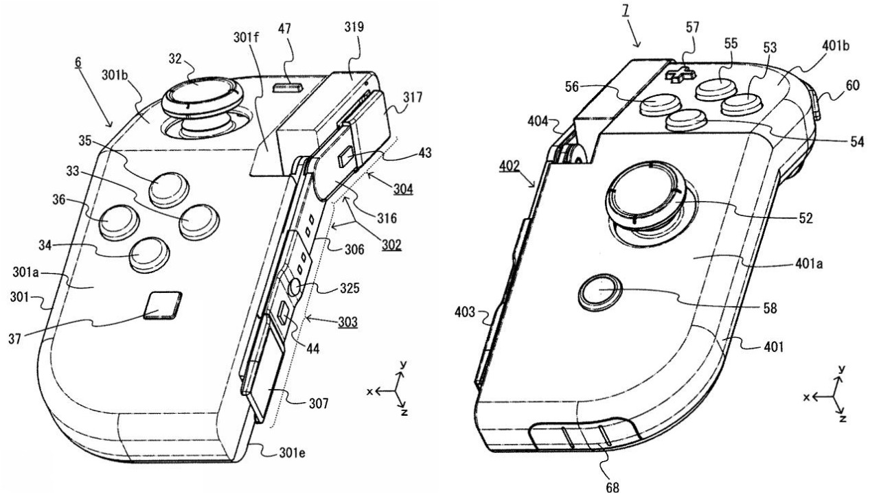 Nintendo Files Patent For What Looks Like A Hinged Joy Con
