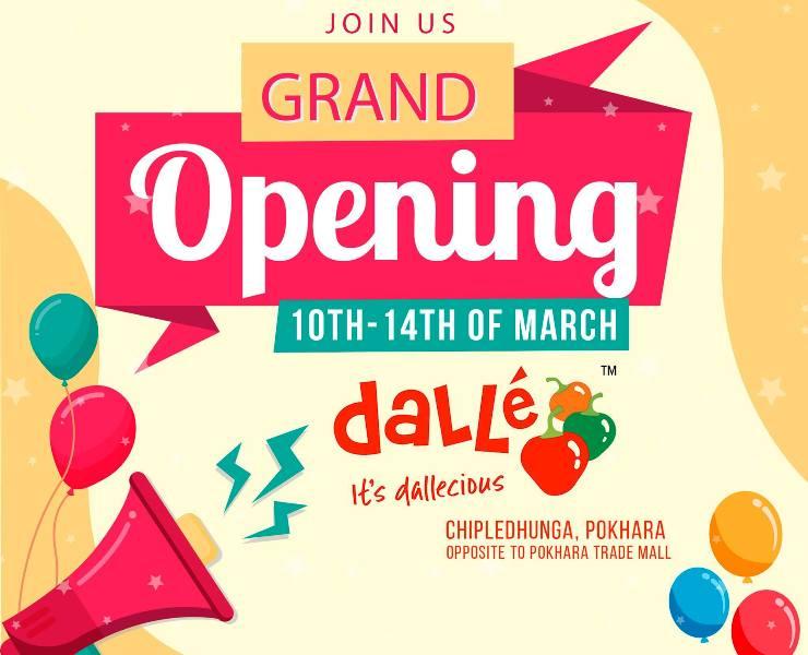 पोखरामा डल्ले मःम, Dalle MoMo Pokhara grand opening