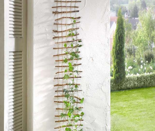 A Decorative Lattice Of Twigs Held Together By Hemp Cord Measures  Centimeters And