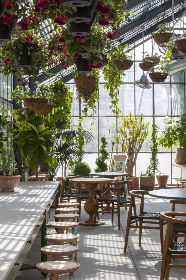 Restaurant Visit Roy Chois Commissary Inside A Greenhouse In LA Gardenista