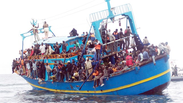Africa migrants on their perilous journey across the Mediterranean