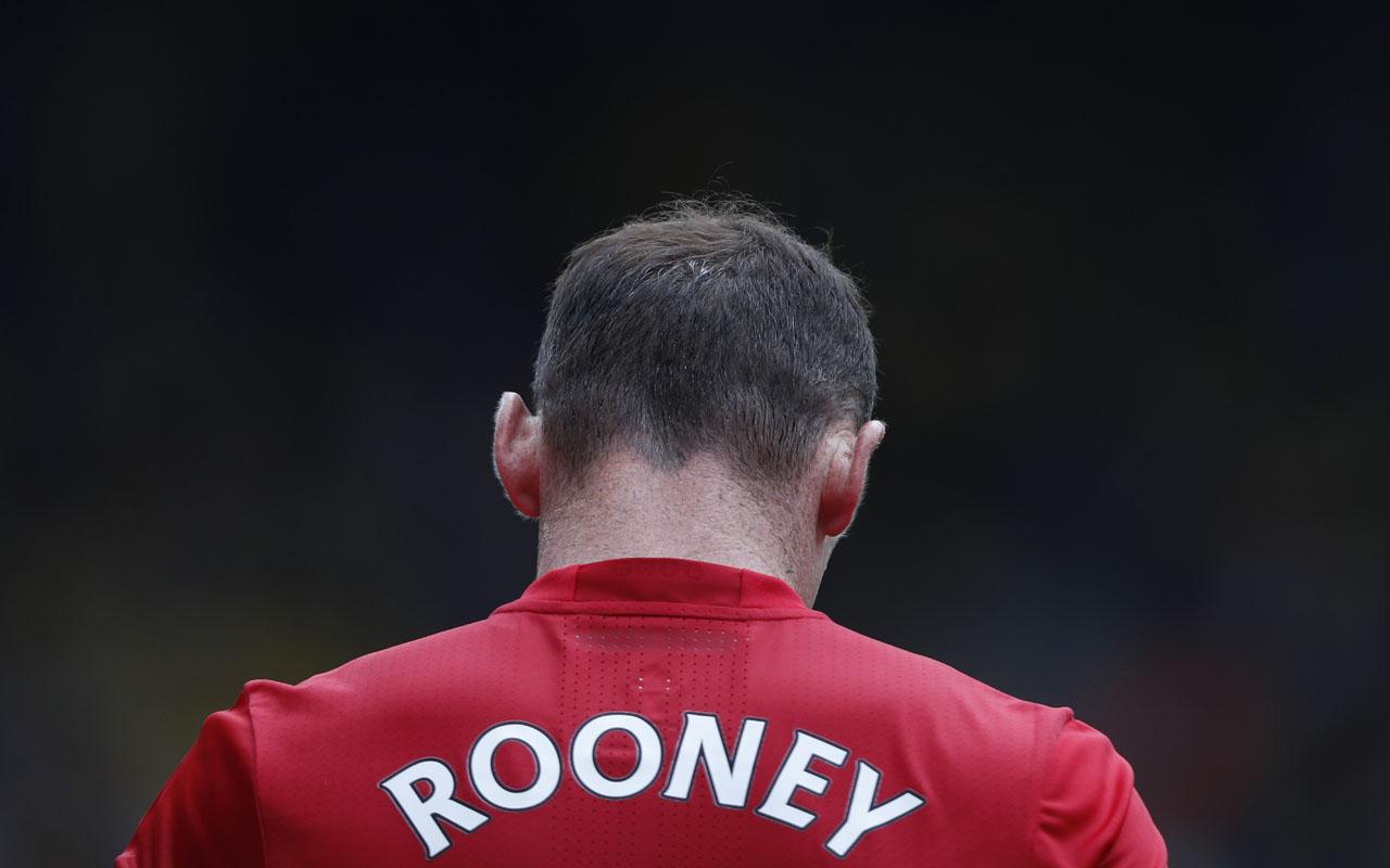 Manchester United's English striker Wayne Rooney. AFP PHOTO / Adrian DENNIS /