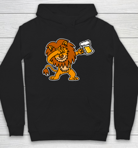 Beer Lover Funny Shirt Dab Dabbing Lion Beer Dutch King's Day King Lions Hoodie