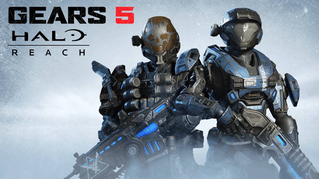 Halo: Reach characters Kat and Emile stand together
