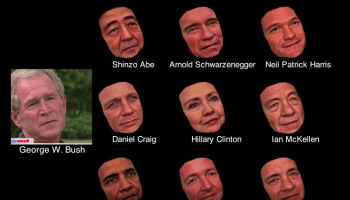 UW researchers' face-modeling software can turn Bush into Obama … or Tom Hanks