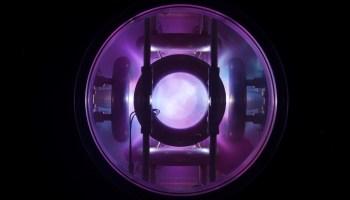 Glowing plasma