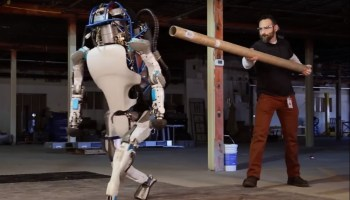 Atlas robot pushed