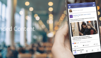 Facebook shifts stance to allow sponsored posts from media companies