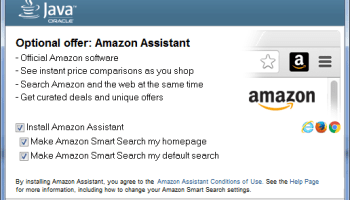 Oracle bundles sneaky 'Amazon Assistant' browser extension with Java installer