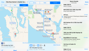 Apple Maps quietly adds public transit directions for Seattle riders