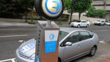 EV charging station in Portland
