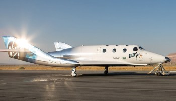 Virgin Galactic receives FAA license to fly SpaceShipTwo – and it's taxiing on runway