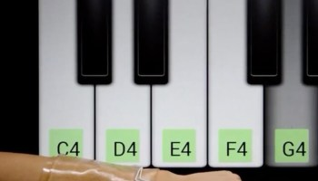 This stretchy touchpad lets you play the piano – or Angry Birds – on your arm