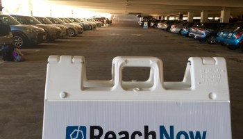 We took BMW's ReachNow to the airport, and this is what happened