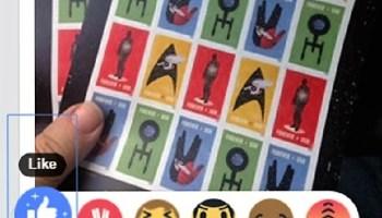 Facebook Trek reaction emojis