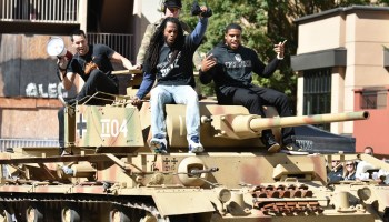 Seahawks Richard Sherman and Bobby Wagner crush 49ers and Patriots helmets with a tank