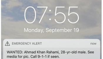 Cellphone alert in New York City enlists millions in hunt for bombing suspect