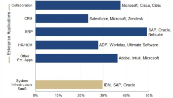 Microsoft surpasses pioneer Salesforce in enterprise software as a service revenue, new study says