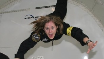 Brooke Owens on zero-G flight