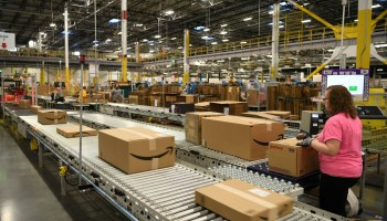 Amazon pays employees to tweet about how much they like working inside fulfillment centers