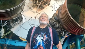 Buzz Aldrin at Apollo/Saturn V Center