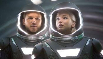 Chris Pratt and Jennifer Lawrence in