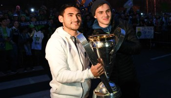 Seattle Sounders arrive in Seattle with the MLS Cup