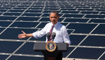Barack Obama at solar energy facility