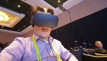 GeekWire CES Dispatch, Day 2: High-tech celebrities, Alexa in the fridge, and VR barf bags