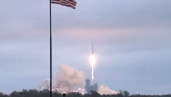 SpaceX makes its first liftoff from NASA's historic moon pad – and then lands Falcon 9 booster