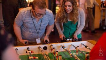 Who will be crowned the foosball champ at this year's GeekWire Bash? Full brackets released
