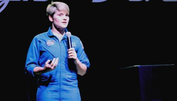 NASA astronaut Anne McClain at Nerd Night Seattle