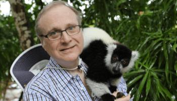 Let Paul Allen and his new lemur friend lift your spirits today